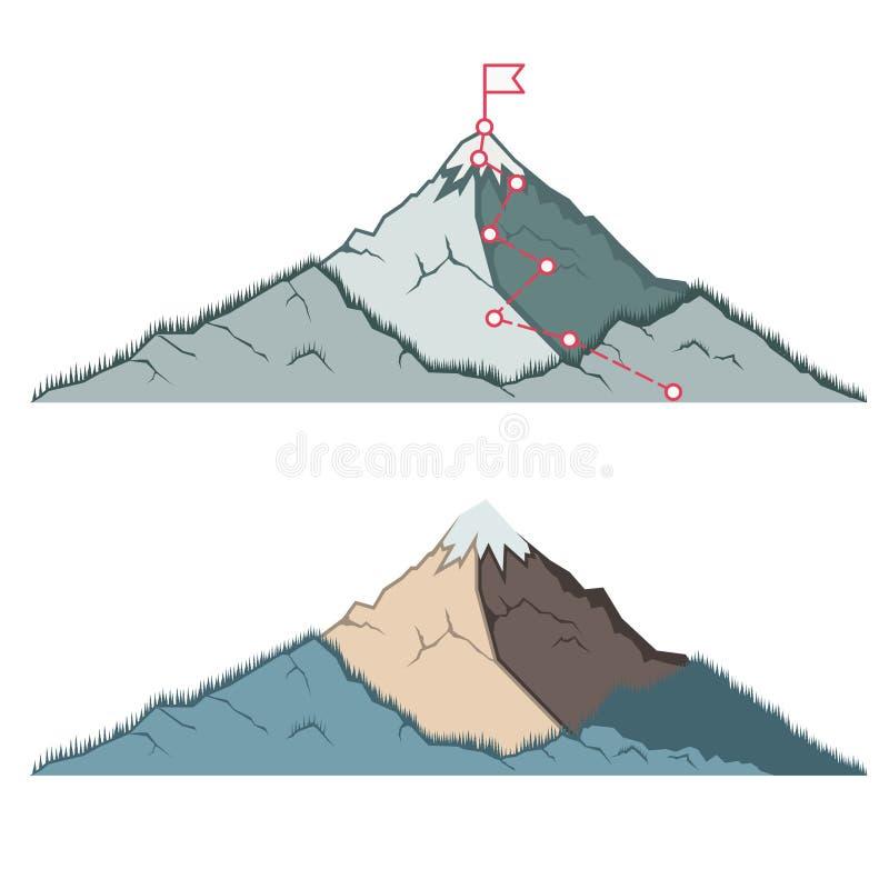 山景背景 度假与户外休闲 矢量 向量例证
