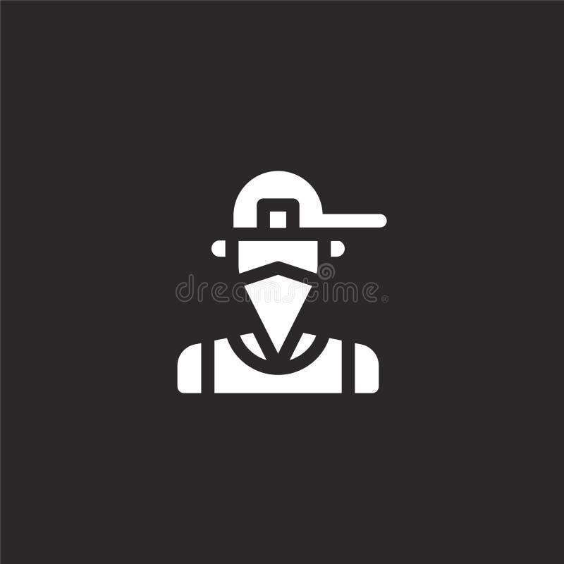 icono del gangsta Icono llenado del gangsta para el diseño y el móvil, desarrollo de la página web del app icono del gangsta de l ilustración del vector