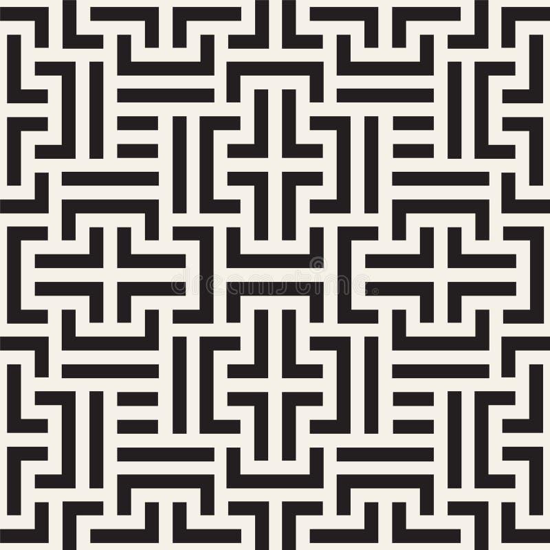 Padrão geométrico sem costura vetor Textura riscada do modo Contexto digital abstrato e criativo repetitivo ilustração royalty free