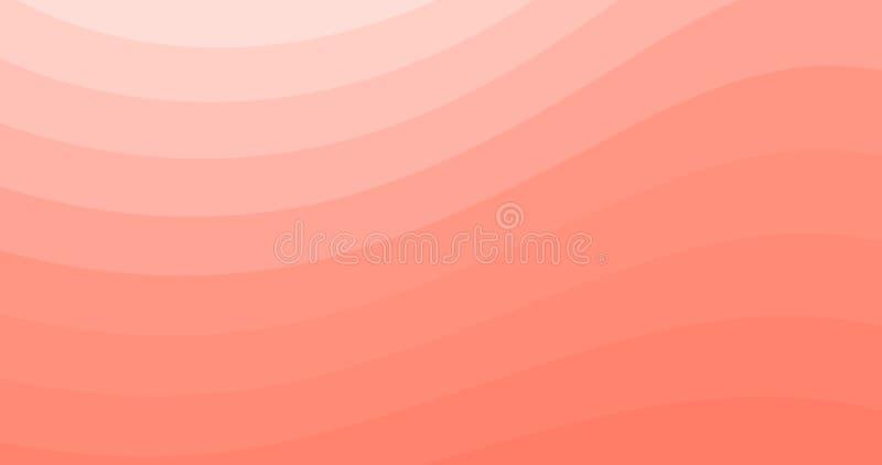 Koraalachtergrond, Abstracte pasta's Trendy 4.000 Behang, Dynamische Stroom Poster in het Ontwerp van de Kleur van het Pastel Gol vector illustratie