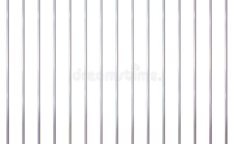 Barre di ferro isolate Uscita, retroscena concettuale Cellule carcerarie moderne Illustrazione dettagliata vettoriale banner royalty illustrazione gratis