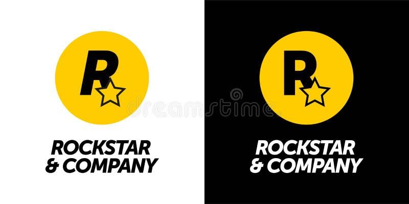 ROCKSTAR & COMPANY Logo-Design für Ihr Unternehmen, Ihren Druck und Ihr Logo Vektor-Icon-Buchstabe r stock abbildung