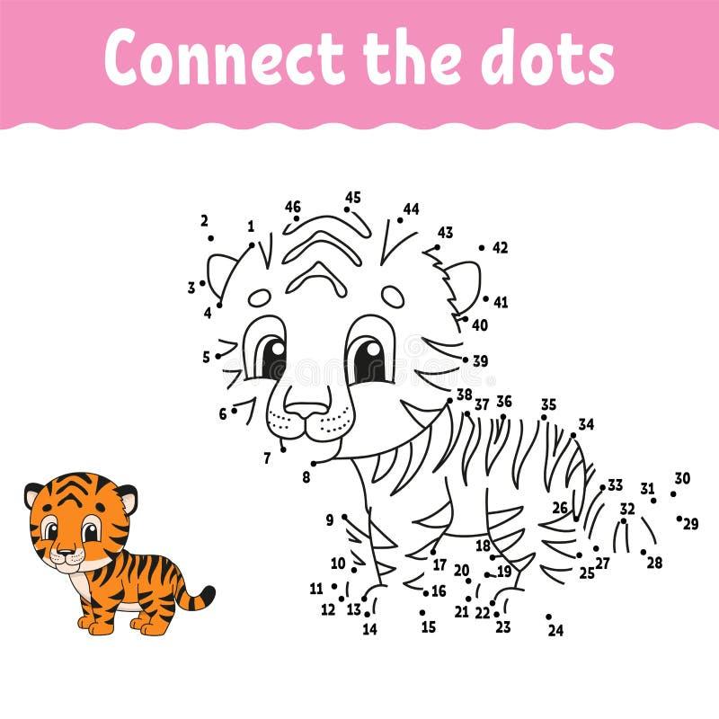 Punkt Rita en rad Handskriftsrutiner Utbildningsnummer för barn Utvecklingskalkylblad för utbildning Sidan med aktivitetsfärgning arkivbilder
