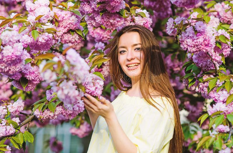 温暖的天 skincare和温泉 皮肤的天然化妆品 E o 妇女在春天 免版税库存图片