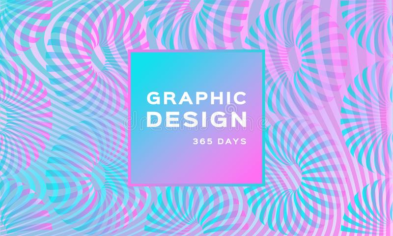 Neon olografico di lusso Sfondo morbido Iridescente Sfondo perlescente trendy Forma futuristica geometrica illustrazione di stock