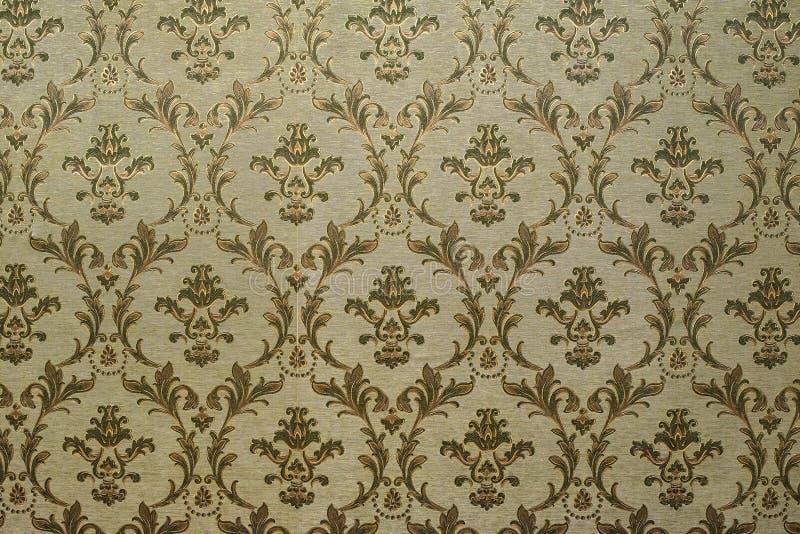 Vintage-mönster i viktoriansk stil på väggen Papper för prydnadsbakgrund arkivbild