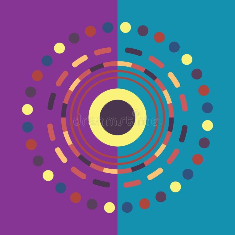 技术彩色圆背景 抽象数字插图 矢量eps10连接概念 电子圆 库存例证