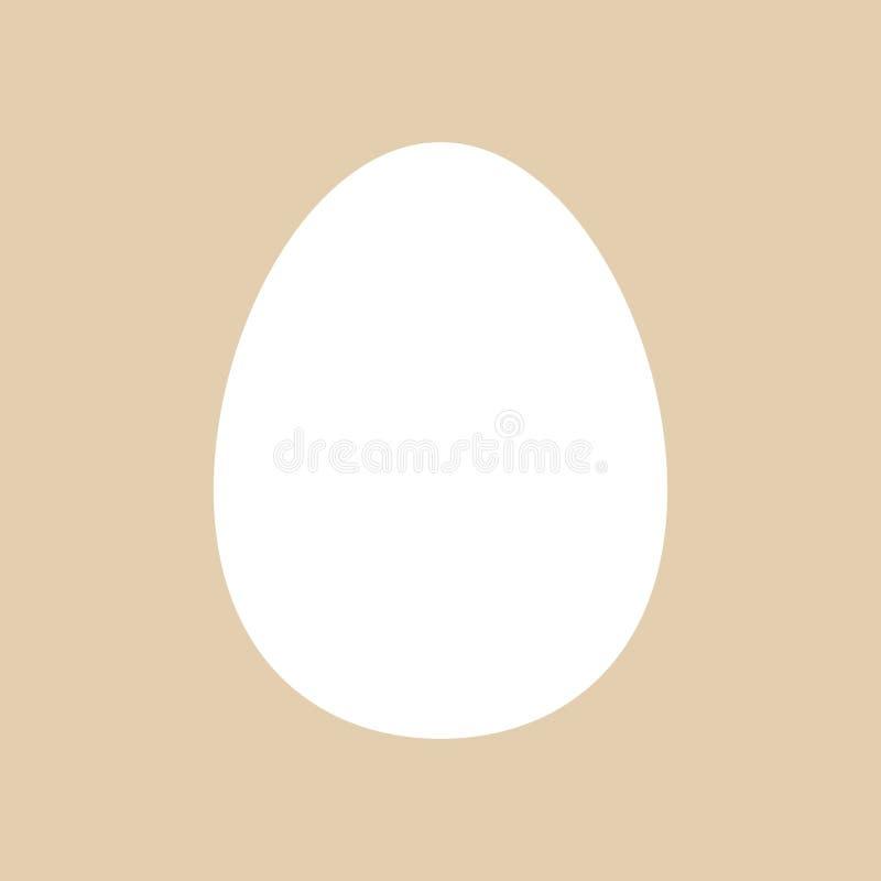 Πρότυπο αυγών για Πάσχα Εικονόγραμμα E Πρότυπο Πάσχας r Σύμβολο, εικονίδιο, απομονωμένα χαρτικά σχεδίων r διανυσματική απεικόνιση