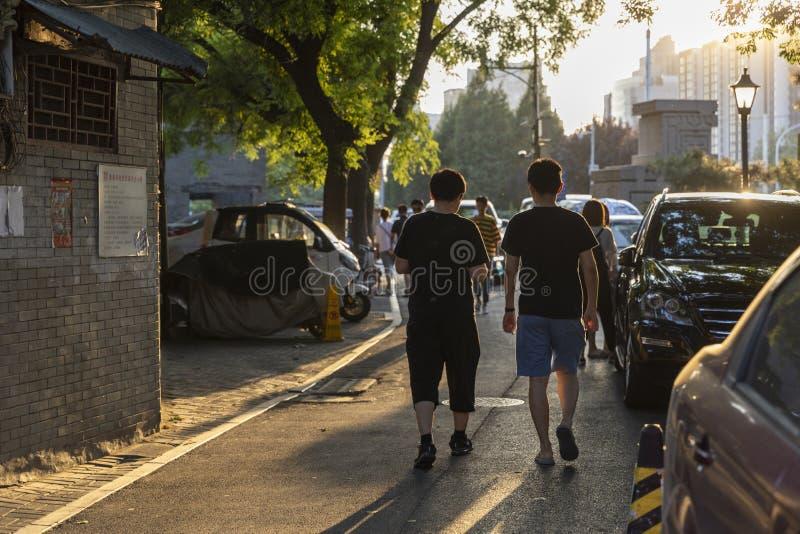 Le Wudaoying Hutong dans Pékin, Chine, est l'un des hutongs commerciaux dans Pékin images libres de droits