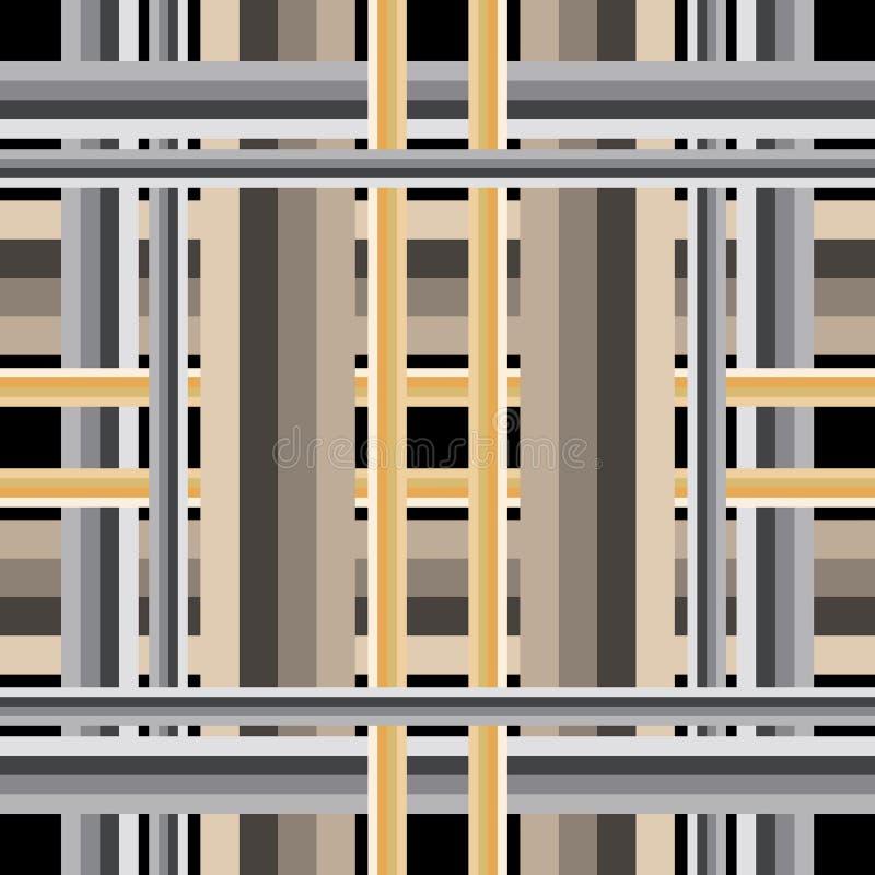 镶边重复五颜六色的无缝的样式 方格的几何装饰背景 抽象装饰格子呢背景 ?? 库存例证