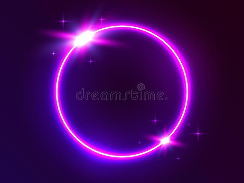 霓虹圈子 E r r o 向量例证