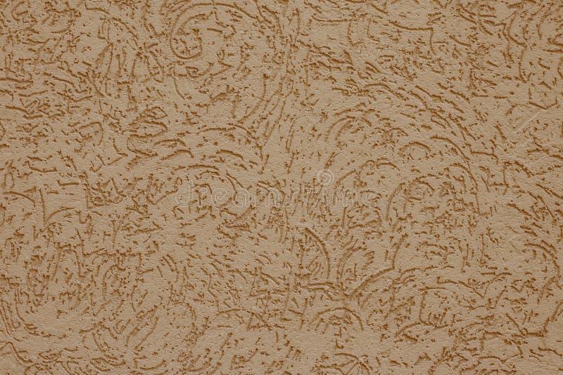 装饰设计的抽象米色背景 彩绘纸质 模式,最小概念 粗糙壁表面 气管, 图库摄影