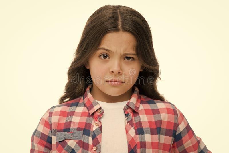 Позвольте мне думать Подозреваемый стороны девушки сомнительный ваш Ребенок имеет сомнения Сторона случайного обмундирования деву стоковые фото