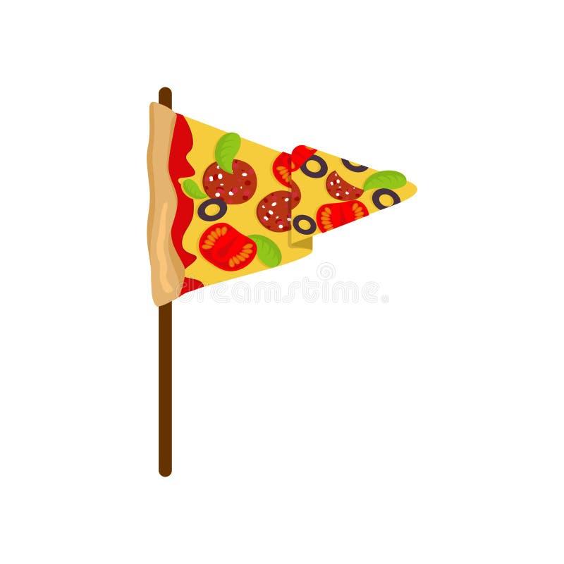 Pizzaflagga Baner för pizzeria eller restaurang ocks? vektor f?r coreldrawillustration stock illustrationer