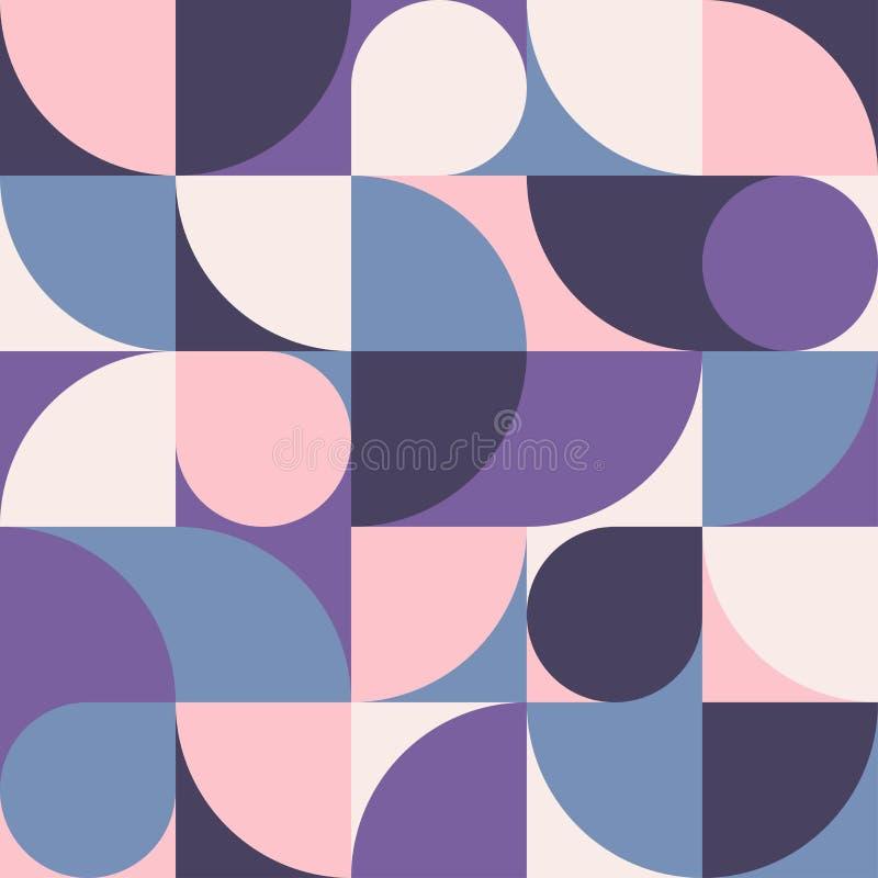 Naadloze roze-blauwe abstracte geometrische druk Vector multi gekleurde illustratie Origineel geometrisch patroon royalty-vrije stock foto's