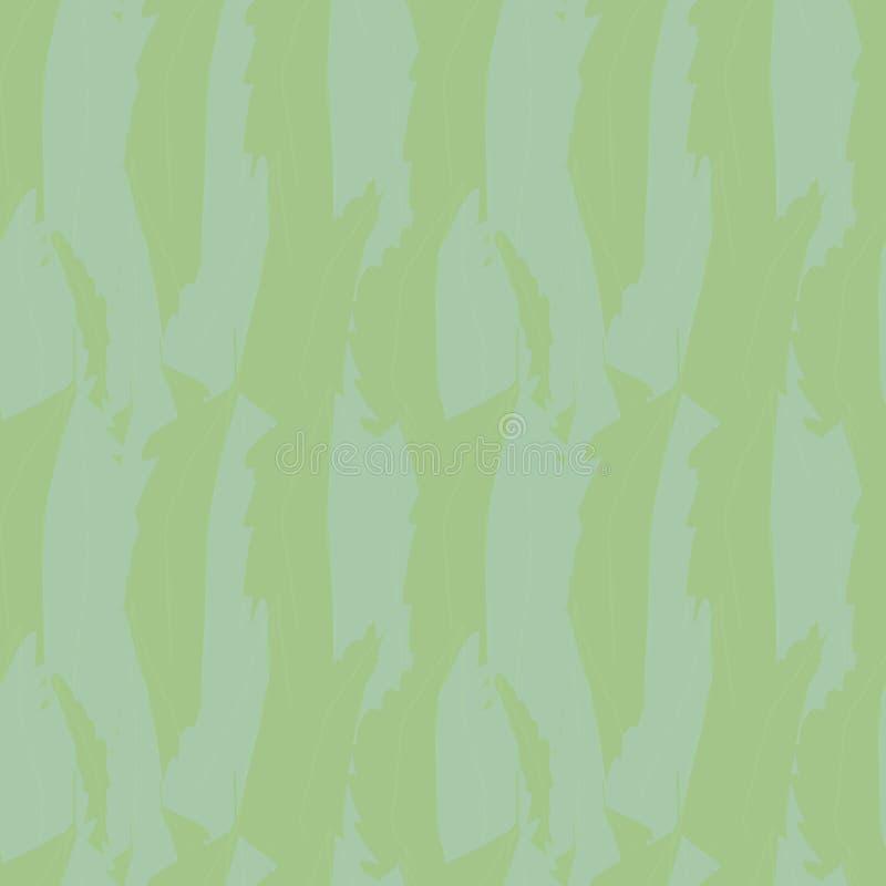 Abstract blauw groen overlappend waterkleureffect bladtextuur Naadloos vectorpatroon met vers vizier Perfect voor royalty-vrije illustratie