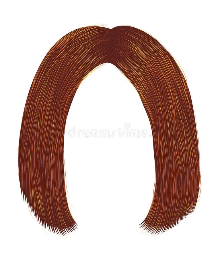 Trendy fryzjerskie kolory kolorystyczne imbira kare moda piękności zdjęcia stock