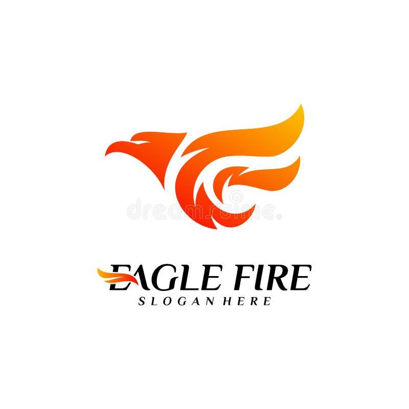 De Brandvogel Logo Design Concepts van Phoenix Duif Eagle Logo Template Vector Pictogramsymbool vector illustratie