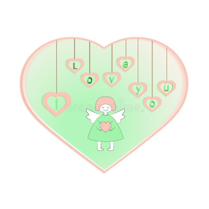 E r również zwrócić corel ilustracji wektora Szczęśliwy walentynki s dzień royalty ilustracja