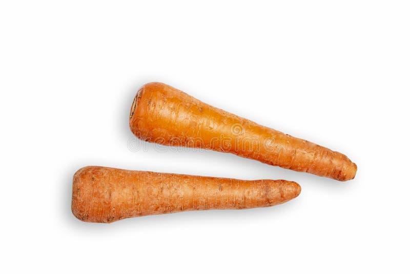 Gros plan de la carotte fraîche sur fond blanc Carotte sur fond blanc isolé Carottes mûres photos stock