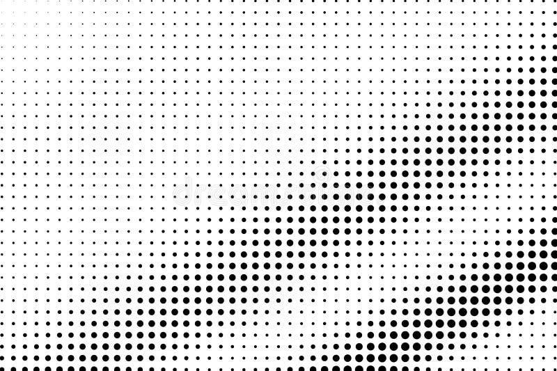 E r Regelmatige dotworkoppervlakte Dunne gestippelde halftone stock illustratie