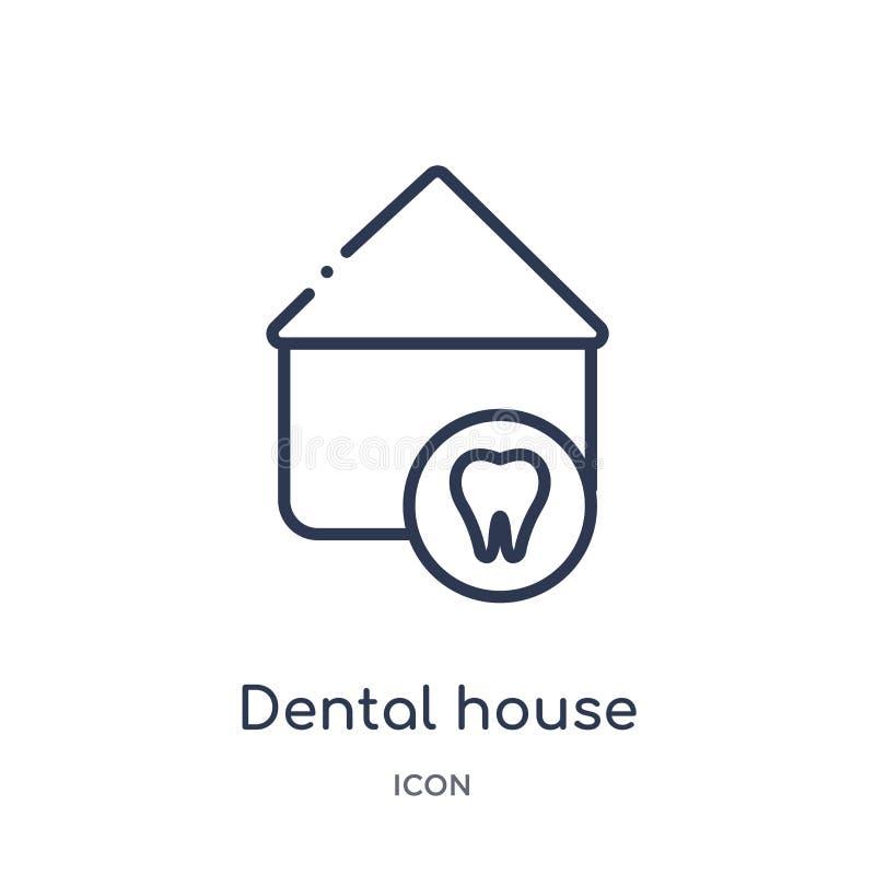 E r stomatologiczny dom ilustracji