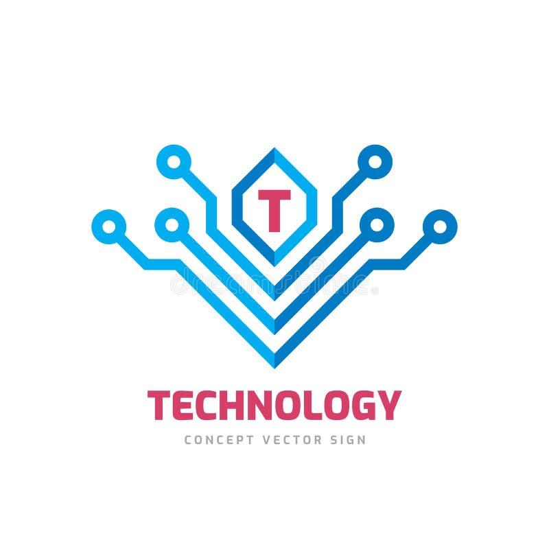 Letter T - иллюстрация концепции шаблона бизнес-логотипа вектора Абстрактный технологический креативный знак Элемент графического иллюстрация вектора