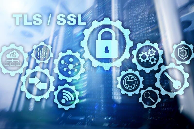 传输层安全 安全套接字层 TLS SSL 密码协议提供安全通信 免版税库存照片