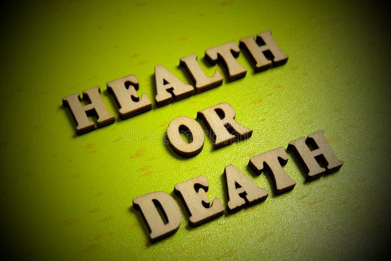 Здоровье или смерть r vignetting стоковые изображения