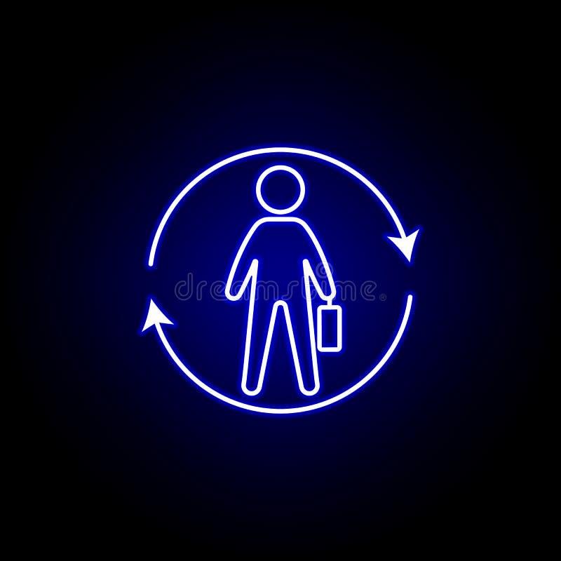 Mitarbeiter, Bildwiederholungssymbol Elemente zur Veranschaulichung der Humanressourcen im Neonstil Zeichen und Symbole können fü stock abbildung