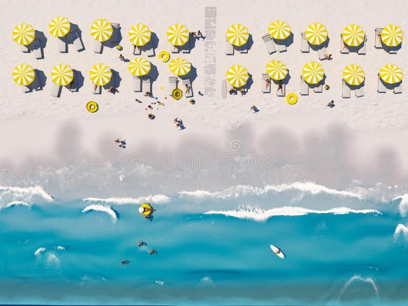 E rappresentazione 3d illustrazione vettoriale