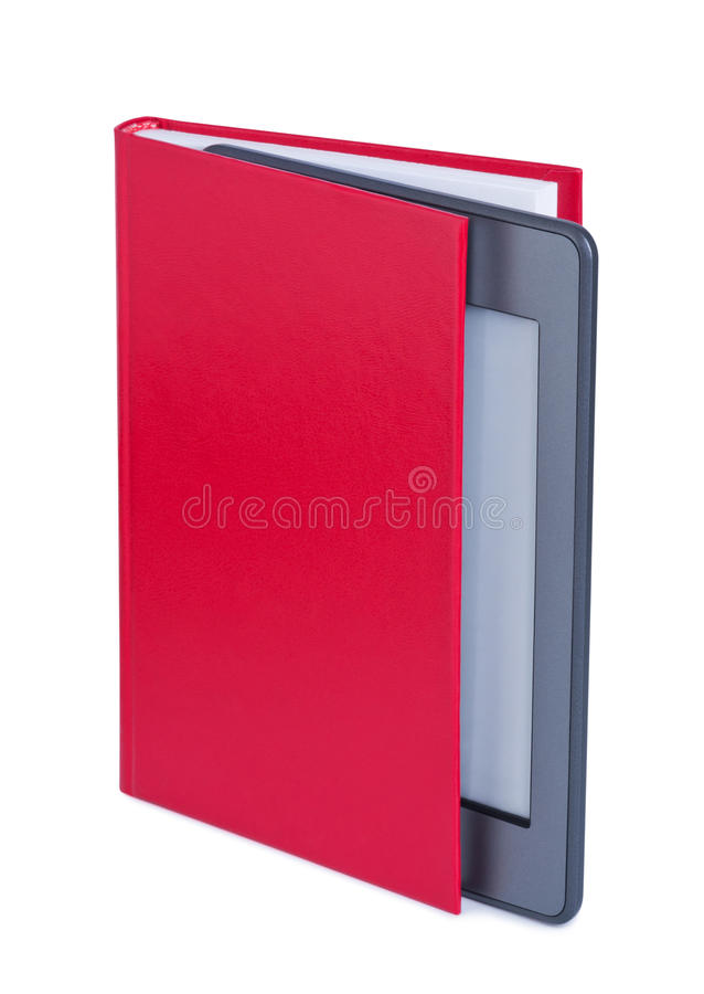 Download E-reader in book. stock photo. Image of library, book - 25720272