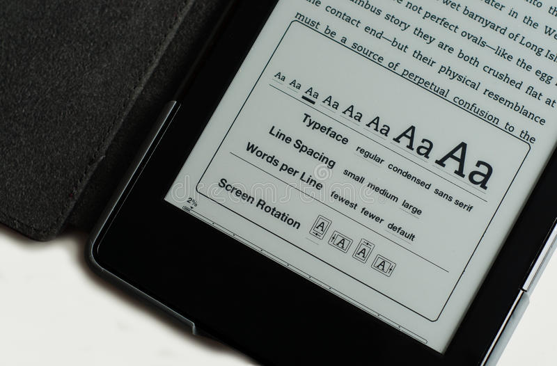 E-Reader Screen Options stock images