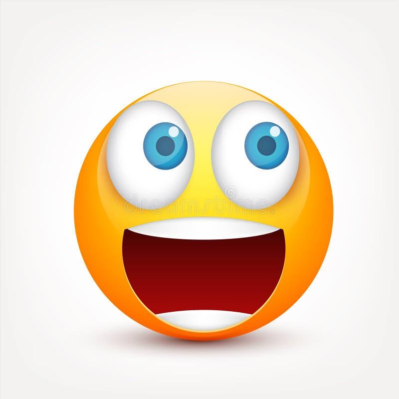 E Realistyczny emoji r tła postać z kreskówki zuchwałych ślicznych psów szczęśliwa głowa odizolowywał uśmiechu biel wektor ilustracji