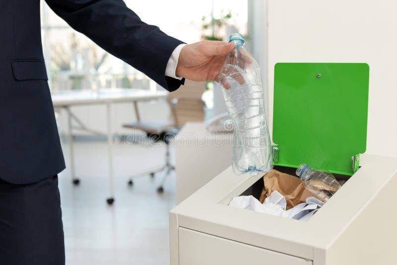 E Reciclagem de res?duos fotografia de stock royalty free