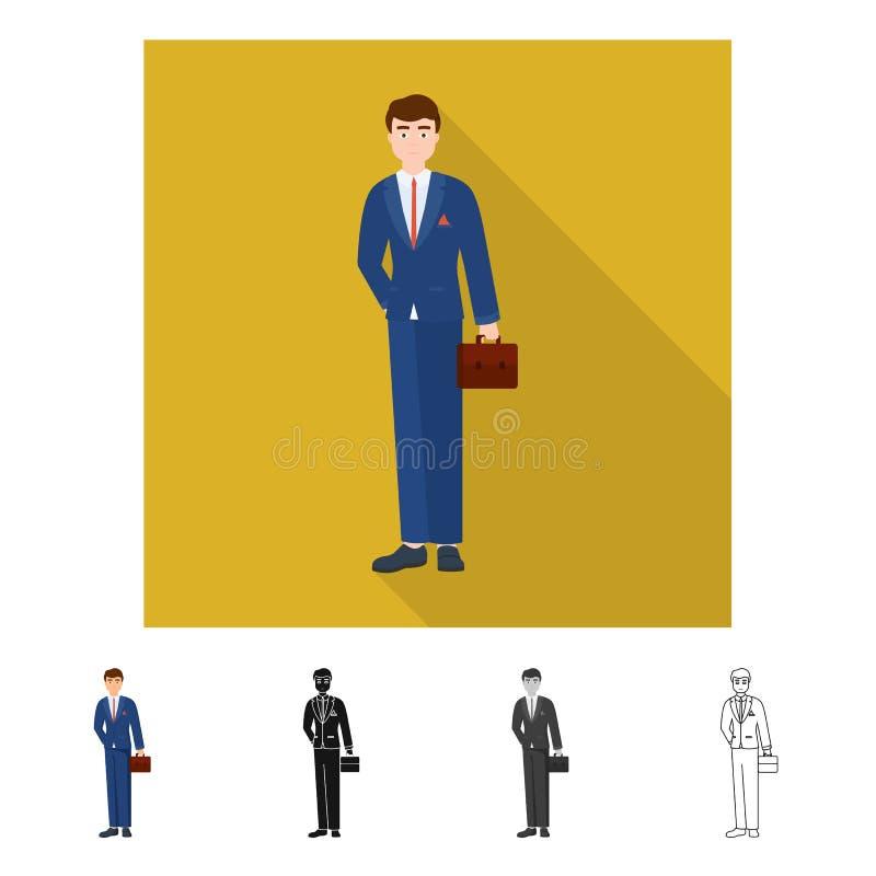 E Reeks van mens en businessperson voorraadsymbool voor Web vector illustratie