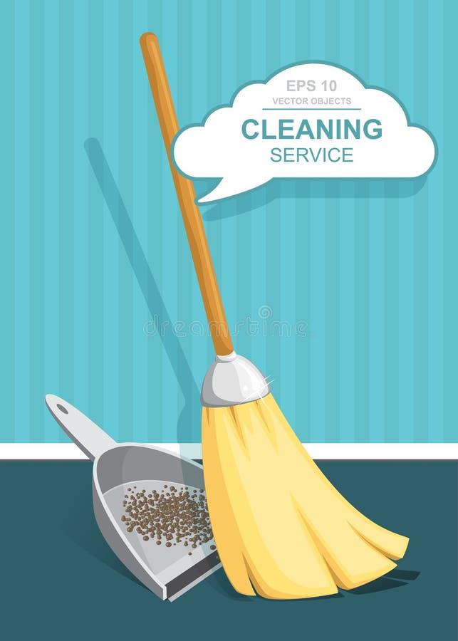 E reinigingsmachine schoonmakende levering r r vector illustratie