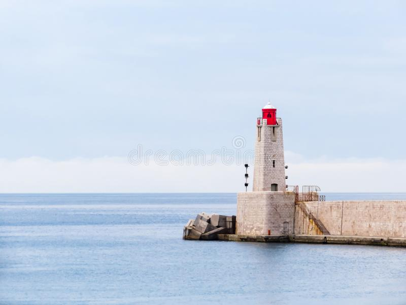 E Remblai et vieux port de Nice, France photos libres de droits
