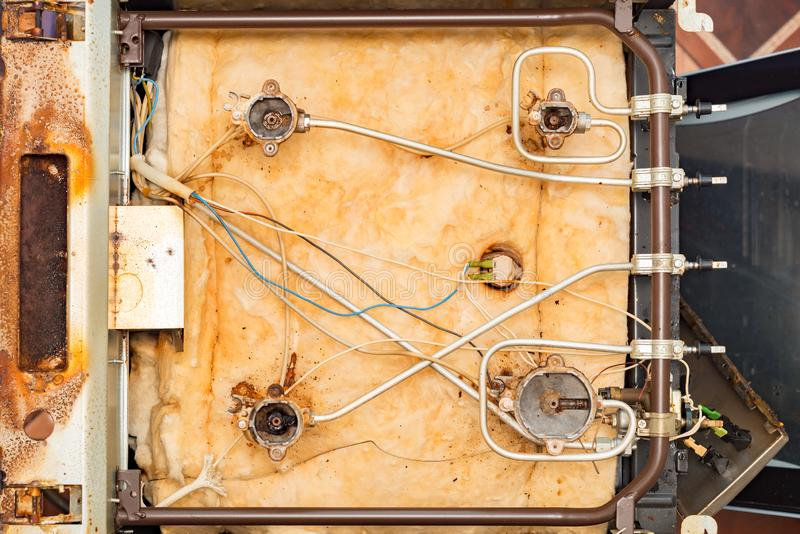 E Reparaci?n de los aparatos electrodom?sticos fotos de archivo libres de regalías