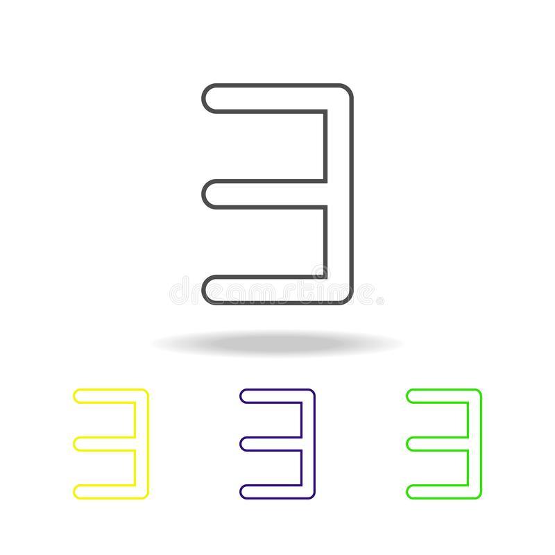 e reverse multicolored icons. Thin line icon for website design and app development. Premium colored web icon with shadow on white vector illustration