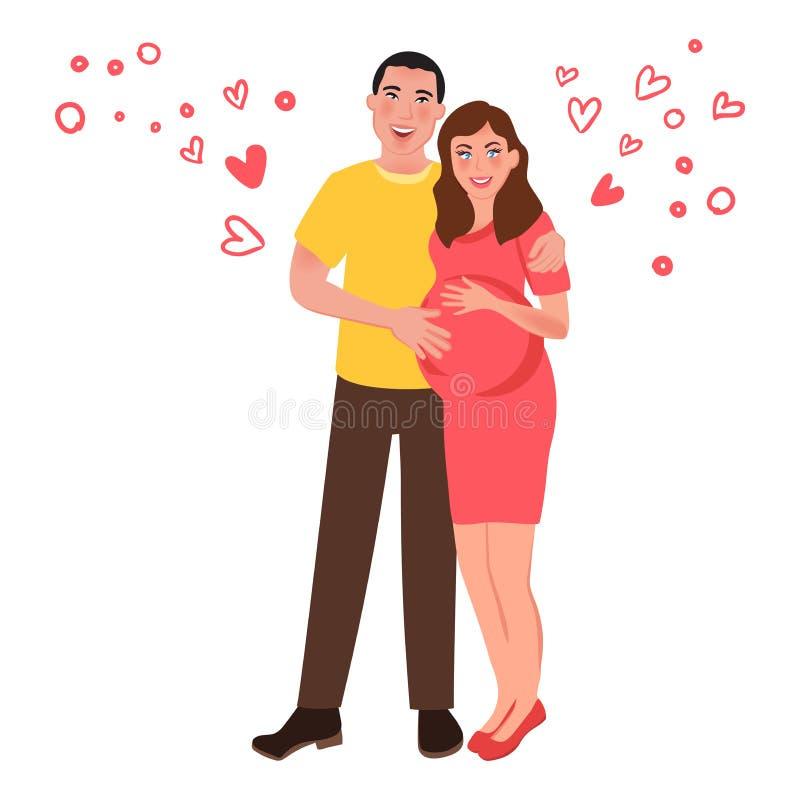 E Romantyczni uczucia i miłość również zwrócić corel ilustracji wektora ilustracji