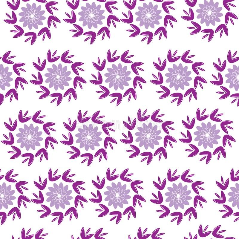 E Rosa Verzierung auf einem weißen Hintergrund Nahtlose Beschaffenheit für tkinini und Fliesen lizenzfreie abbildung