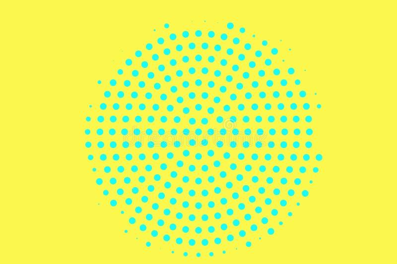 E Ruwe halftone textuur Gecentreerde dotwork gradi?nt r stock illustratie