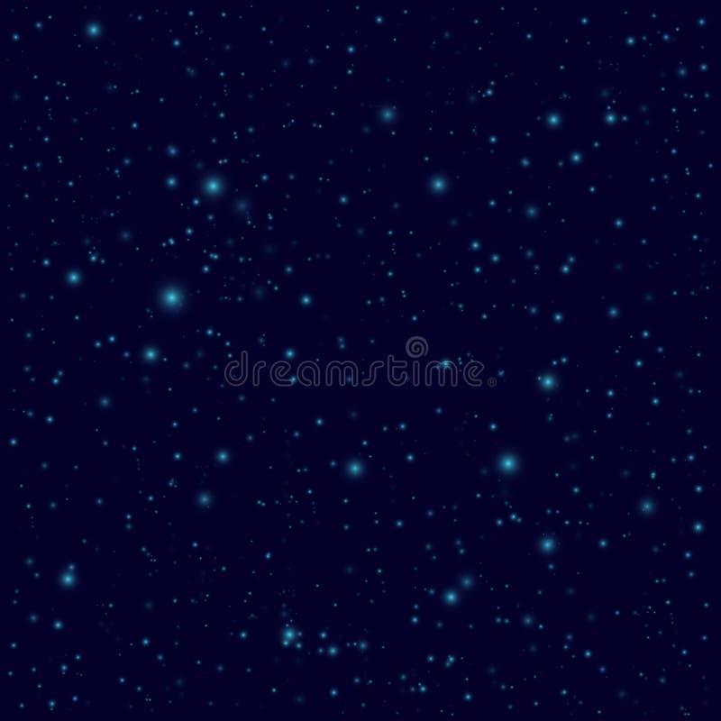E Sömlös bakgrund för vektorutrymme vektor illustrationer