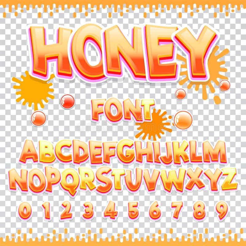 E Süße ABC-Buchstaben und -zahlen Nettes Kinderalphabet vektor abbildung