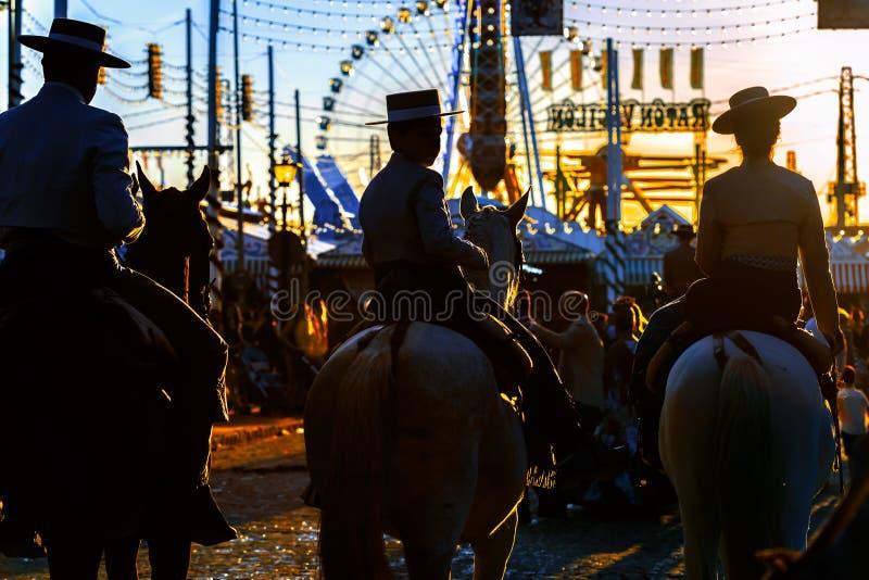E ` S April Fair de Sevilla imagen de archivo