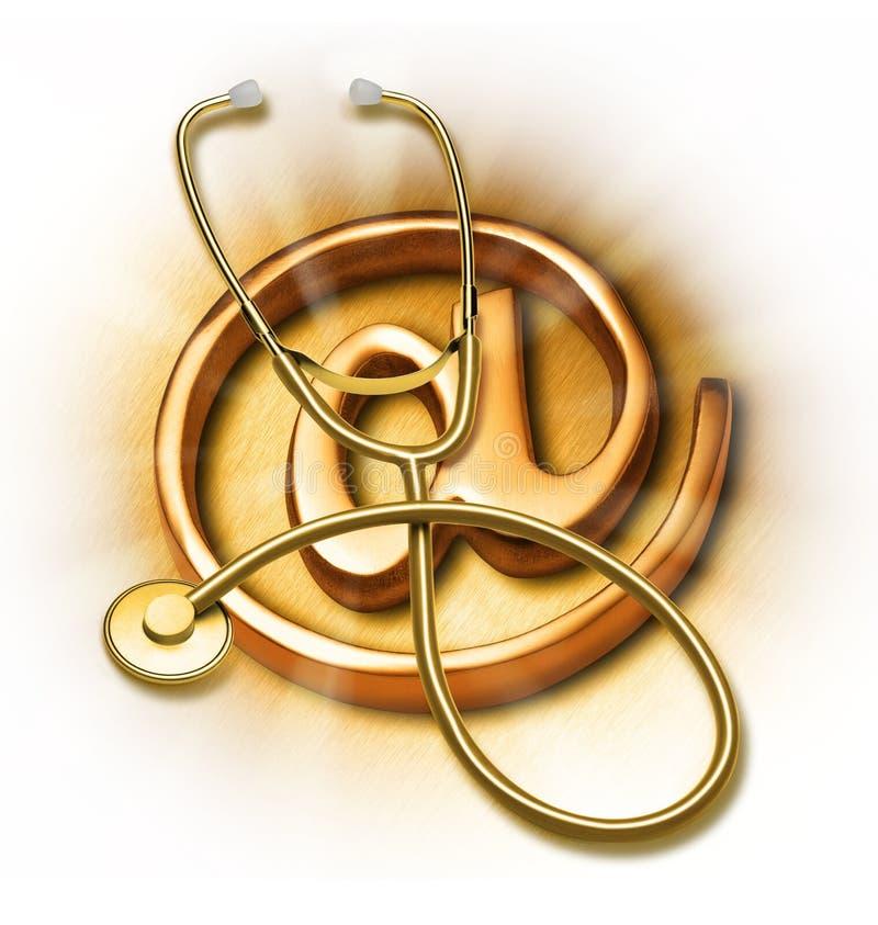 E-Salud del Internet stock de ilustración