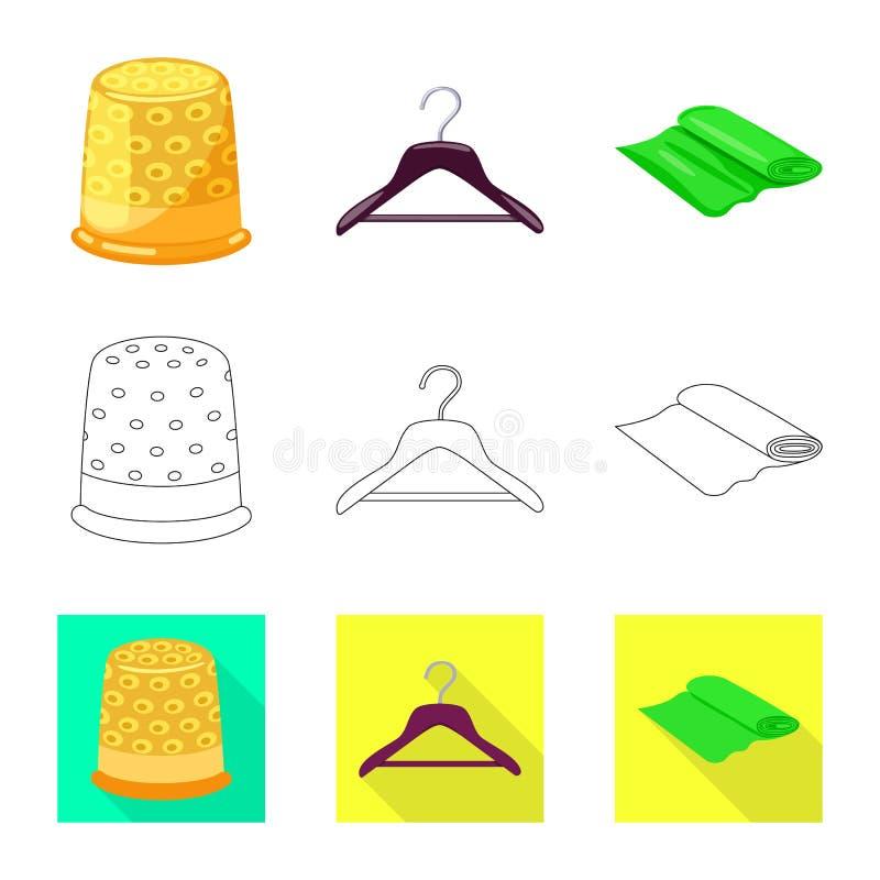 E Samling av hantverk- och branschmaterielsymbolet f?r reng?ringsduk royaltyfri illustrationer