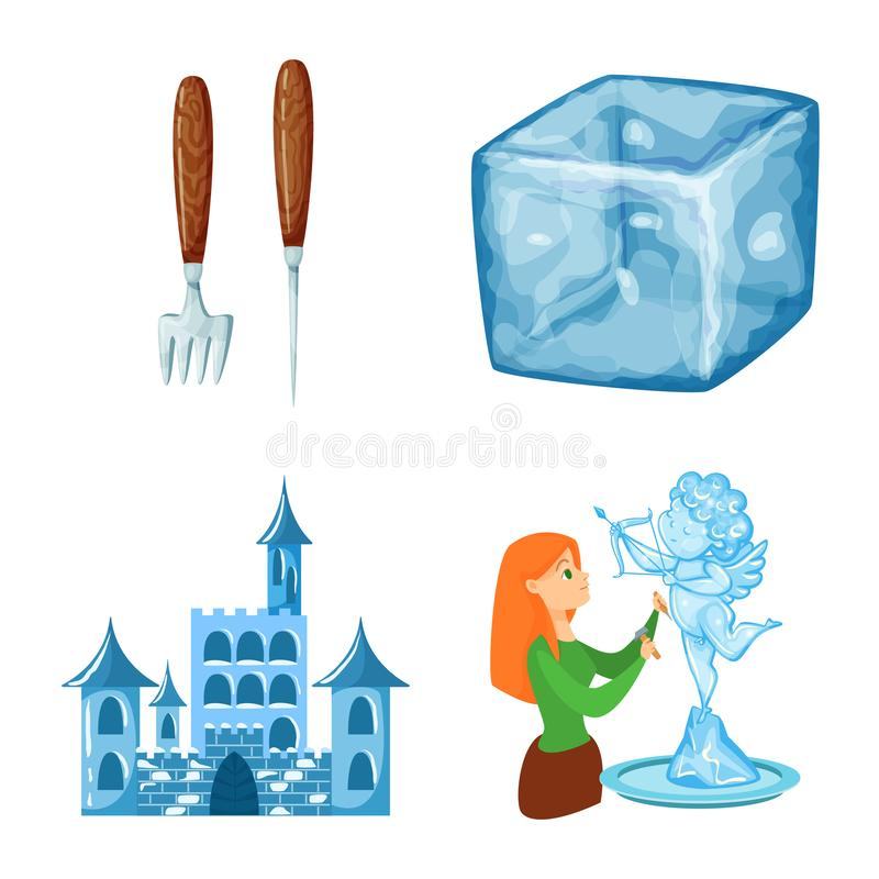 E Samlingen av frost och v?ta lagerf?r symbolet f?r reng?ringsduk stock illustrationer