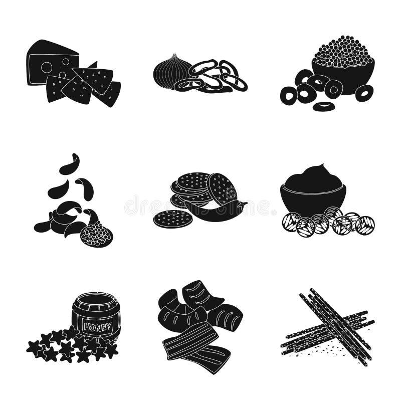 E Sammlung der Bestandteil- und Produktvorratvektorillustration lizenzfreie abbildung